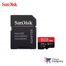SanDisk Extreme PRO Micro SD Memory Card 128GB 170MB/s A2 Class 10 with Adapter