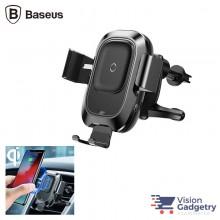 Baseus Car Wireless Charger Qi Phone Car Holder Auto Clamp WXZN-01