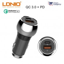 LDNIO C1 PD QC3.0 Car Charger Dual USB 36W w Micro USB Cable