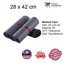 Courier Flyer Bag Beg Kurier Packing Plastic Bag Poslaju Gdex DHL Medium 28 x 42cm 100pcs