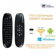 T10 C120 Airmouse Air Mouse Wireless Keyboard Remote Control Android TV Box