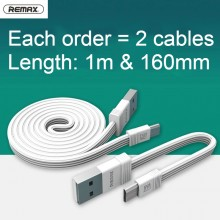 Remax Tengy Series RC-062i Lightning Micro USB Data Cable 2pcs