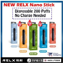 100% Original Relx Nano Mini Vape Electronic Cig Flavor Disposable (1 Time Use)
