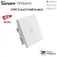 Sonoff Smart Home Wall Switch Plug T2 Wifi RF Touch Panel 1 Single Gang TXT2UK1C