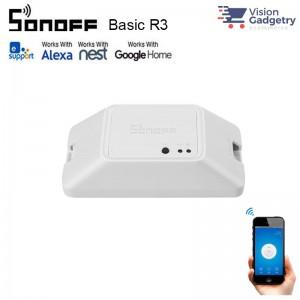 Sonoff Basic R3 Smart Home Wifi DIY Wireless Switch App Control 2200W