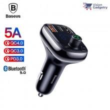 Baseus FM Transmitter Modulator AUX Handsfree Bluetooth MP3 Car Charger S-13 36W