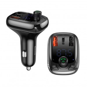 Baseus FM Transmitter Modulator AUX Handsfree Bluetooth MP3 Car Charger S-13 36W