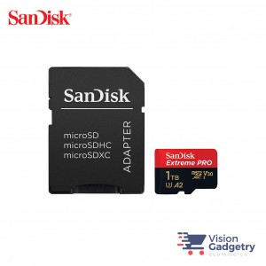 SanDisk Extreme PRO Micro SD Memory Card 1TB 170MB/s A2 V30 Class 10 UHS-1
