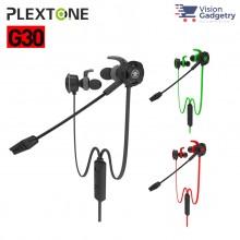 Plextone G30 Gaming Earphone Headset In-ear Earbud Noise Cancellation w Mic (3.5mm)