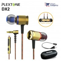 Plextone DX2 Gaming Earphone Headset In-ear Earbud Metal Piston Head w Mic