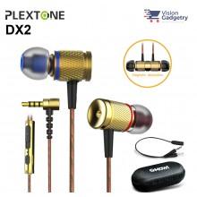 Plextone DX2 Gaming Earphone Headset In-ear Earbud Metal Piston Head w Mic (3.5mm)
