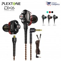 Plextone DX6 Gaming Earphone Headset In-ear Earbud 3 Hybrid Drivers Detachable