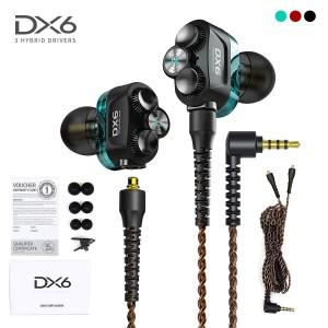 Plextone DX6 Gaming Earphone Headset In-ear Earbud 3 Hybrid Drivers Detachable
