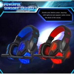 Plextone PC780 Gaming Headphone Earphone Double Bass HD Mic LED Noise Cancellation