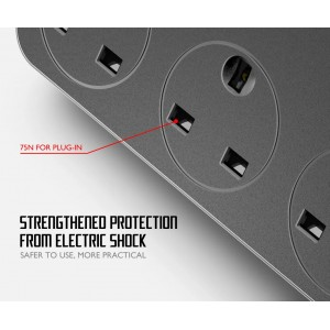 LDNIO SK3662 Power Strip 3 Universal Socket with 6 USB Output 3.4A 2500w
