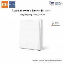 Xiaomi Aqara Smart Home Switch D1 Wireless Switch Single Gang ZigBee WXKG06LM