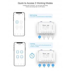 Sonoff 4CHR3 4CHPROR3 4 Channel Gang R3 Smart Home Wifi Wireless Switch App Control Ewelink