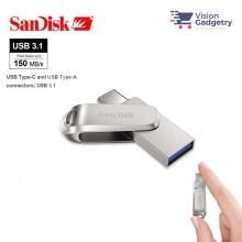 Sandisk Ultra Dual Drive LUXE Type-C OTG USB 3.1 DC4 Flash Drive 150MB/S 128GB