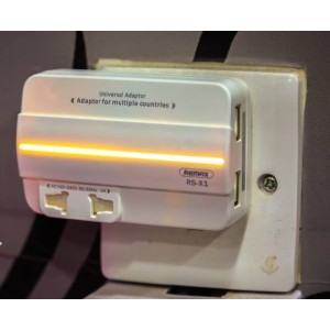 Remax Travel Adaptor with 2 USB Port RS-X1 RSX1