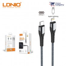LDNIO iPhone Type C to Lightning PD USB Cable Output 18W  LC111 LC112 1M 2M GREY