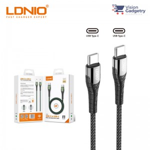 LDNIO Type C to Type C PD USB Cable Output 65W LC101 LC102 1M 2M GREY