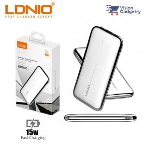 LDNIO PQ1017 Powerbank 10000mah Output Type C LED Display Stainless Steel 15W
