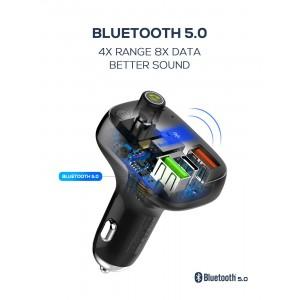 LDNIO C704Q FM Transmitter Modulator Bluetooth 5.0 Car Charger PD3.0 QC4.0+ 36W