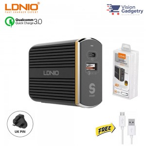LDNIO A2502C PD Charger Type C USB QC3.0 36W