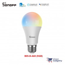 Sonoff WiFi Smart LED Bulb E27 RGB Colors Dimmable 9W App Control B05-B-A60