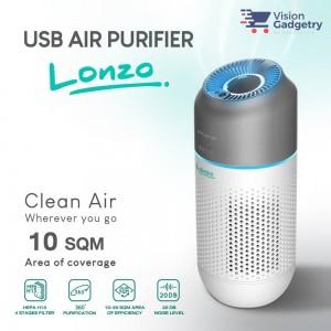 Lonzo Portable Car Air Purifier Hepa Filter H13