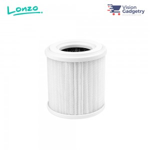 Lonzo Portable Car Air Purifier Hepa Filter H13 Replacement