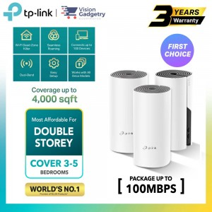 TP-Link Deco E4 AC1200 Mesh Wifi Router Whole Home System Wireless Range Extender (2pcs/3pcs)