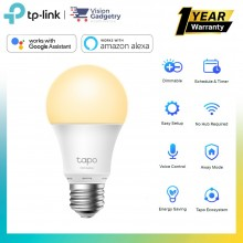 TP-Link Tapo L510E Smart LED Bulb Wifi Dimmable E27 Remote Control Schedule Auto On/Off