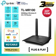 TP-Link TL-MR100 Sim Card Router 300Mbps Wireless N 4G LTE Router Maxis/Digi/Celcom/Umobile
