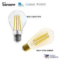 Sonoff WiFi Smart Filament Bulb Amber E27 Dimmable 9W App Control B02-F-ST64 A60