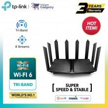 TP-Link Archer AX90 AX6600 Tri-Band WiFi 6 Gigabit Wireless Router UniFi/Maxis/Time/Celcom