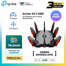 TP-Link Archer AX11000 Tri-Band WiFi 6 Gigabit Wireless Gaming Router UniFi/Maxis/Time/Celcom