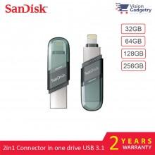 Sandisk iXpand Flip 2in1 USB and Lightning Flash Drive iPhone iPad 32GB 64GB 128GB 256GB