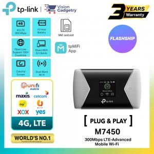 TP-Link M7450 Sim Card Mobile Mifi WiFi Router 4G LTE Advanced 300Mbps Unifi/Maxis/Digi/Celcom/Umobile