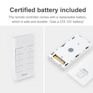 Sonoff RM433 Smart Home Wireless RF Remote 433mHz 8 Keys Buttons Switch