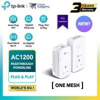 TP-Link TL-WPA8631P KIT AV1300 AC1200 Gigabit Passthrough Powerline AC Wi-Fi Kit OneMesh