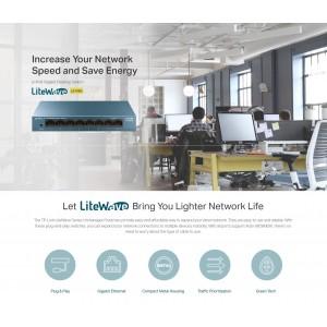 TP-Link LS108G LS105G 5/8 Port Gigabit Desktop Network Ethernet LAN Switch Steel Case