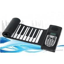 Flexible Handroll Roll Up Mini Softkey MIDI Electronic Piano w Speaker