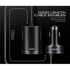 LDNIO C502 4 USB Port Car Charger Extension